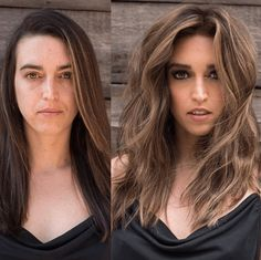 Warning: These hair transformation before & after photos might cause you to book a haircut or color transformation appointment with your stylist ASAP! Before After Hair, Before And After Haircut, Red Scene Hair, Pageant Hair, Long Gray Hair, Great Hair, Amazing Hair, Hair Transformation, Layered Hair