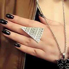 Prsten Triangle STŘÍBRNÝ