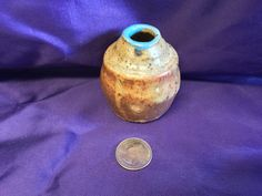 Early Vintage Jugtown Pottery Egg Drip Glaze Vase in Excellent Condition it has the stamp on base but it is illegible by LilRedsRetroFinds on Etsy