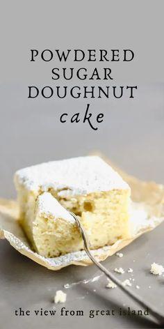 Great Desserts, Delicious Desserts, Potluck Desserts, Yummy Food, Cake Mix Recipes, Dessert Recipes, Dessert Ideas, Delish Cakes, Doughnut Cake