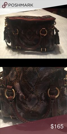 Dooney & Bourke handbag Python embossed leather satchel Dooney & Bourke Bags Satchels