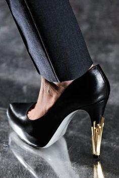 Jason Wu stilettos with gold Art Deco detail