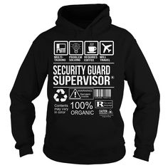 Awesome Tee For Security Guard Supervisor T-Shirts, Hoodies. CHECK PRICE ==►…