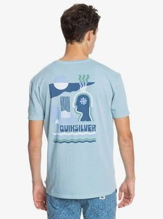 quiksilver, Earth Running Organic T-Shirt, BLUE HEAVEN (blf0)
