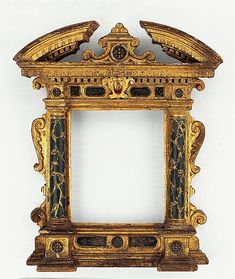 Tabernacle frame, early 17th century. Painted and gilt poplar, 17 x 14 inches. The Metropolitan Museum of Art.