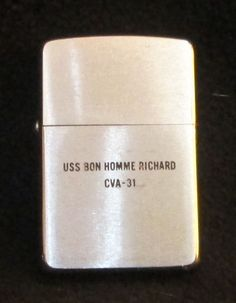 Estate 1969 Zippo Lighter USS Bon Homme Richard CVA-31