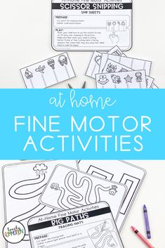Are you trying to teach families with distance learning?Are you using take home packets during this school closure?Homeschooling and need some preschool activities?These At Home Fine Motor Activities are what you need! Gross Motor Activities, Preschool Learning Activities, Preschool Lesson Plans, Preschool Classroom, Parent Communication, School Closures, Early Education, Student Learning, Fine Motor
