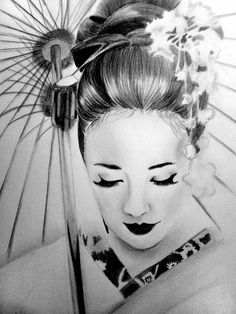 geisha deviantart drawing drawings japanese tattoo memoirs sketch google face tattoos tatuagens japan matita disegni arte cerca tatuaggi dessin gueixa