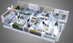 The Home Decor Guru – Interior Design For Bedrooms 6 Bedroom House Plans, 4 Bedroom House Designs, 3d House Plans, Model House Plan, House Layout Plans, Home Design Floor Plans, Home Building Design, Home Room Design, Dream House Plans