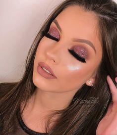 40 Trendy Ideas Birthday Makeup Gold Make Up Perfect Makeup, Cute Makeup, Glam Makeup, Gorgeous Makeup, Pretty Makeup, Bridal Makeup, Wedding Makeup, Beauty Makeup, Hair Makeup