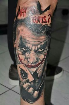 Why so serious #tattoo #joker #dccomics