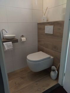 Toilet – # powder room # toilet # small toilet design ideas – Modern Bathrooms – Mix - Home Modelb Small Toilet Design, Small Toilet Room, Guest Toilet, Downstairs Toilet, Bathroom Design Small, Bathroom Interior Design, Bathroom Designs, Cloakroom Toilet Small, Ideas Baños