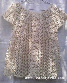 Летняя блуза крючком с ажурными дорожками. Кофточка крючком красивым узором | Я Хозяйка