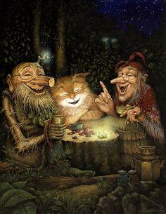 The cat's night out -- Illustrator Александр Васильевич Маскаев