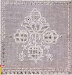 Mania Dziergan(i)a: Haft ze Schwalm Embroidery Patterns, Hand Embroidery, Needlework, Ideas, Stitches, Needlepoint, White Embroidery, Handarbeit, Needlepoint Patterns