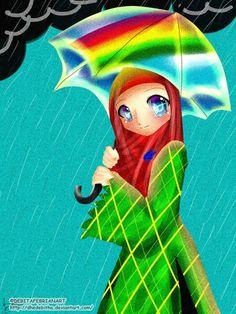 <3 Hijab Drawing, Cute Cartoon, Muslim, Disney Characters, Fictional Characters, Cartoons, Disney Princess, Drawings, Illustration