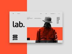 001 - LABS designed by Nathan Bolger. Connect with them on Dribbble; the global community for designers and creative professionals. Web Layout, Layout Design, Design Art, Media Design, Game Design, Graphic Design Brochure, Branding, Ui Web, Monochrom