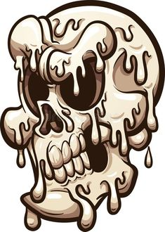 Illustration about Melting cartoon skull. Vector clip art illustration with simple gradients. All in a single layer. Illustration of cartoon, white, angry - 108045979 Art And Illustration, Halloween Drawings, Halloween Skull, Grafitti Letters, Brochure Design Inspiration, Photos For Sale, Stock Photos, Cartoon Wallpaper, Cartoon Drawings