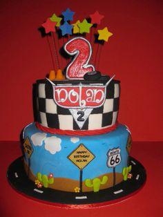 Nolan's Cars Birthday Cake