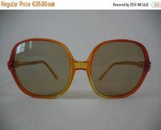 864492e8f486 ON SALE 20% Oversized vintage French sunglasses Vintage Sunglasses