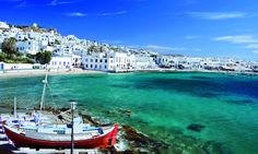 Mykonos is a popular tourist destination in the Greek islands of the Cyclades group, situated in the middle of the Aegean Sea. Mykonos is located. Vacation Destinations, Dream Vacations, Vacation Spots, Vacation Deals, Vacation Travel, Vacation Packages, Cruise Vacation, Summer Travel, Places To Travel
