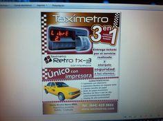 Flyer taxímetro Saltillo