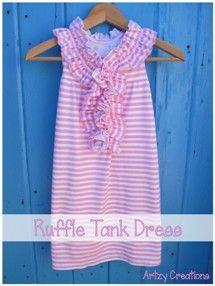 Tutorial: Designer-inspired ruffle tank dress for little girls