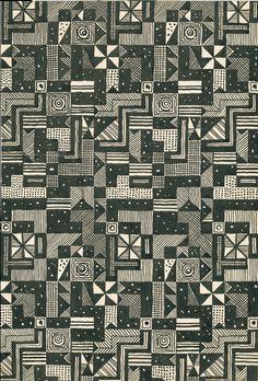 design-is-fine:  Josef Hoffmann, Entwurf Stoffmuster, 1928