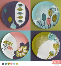 Set of plates designed for the Home decor week in MATS A
