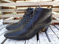 Vintage Black Lace Up Pixie Boot by VTGRDX on Etsy, $30.00