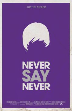 Never Say Never.  Well if the Beatles could pull the hair trick, I suppose I shouldn't judge this kid too much.