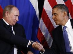 "U.S. President Barack Obama meets with Russian President Putin--Plans to share military ""security experts"" during mass disaster incidents and emergencies."