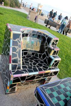 mosaic chair in Laguna, California