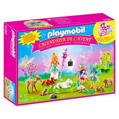 Playmobil 5492 : Calendrier de l'Avent : Fées avec licorne et animaux de la forêt Playmobil - Magasin de Jouets pour Enfants