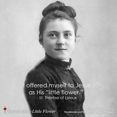 Therese of Lisieux St Therese Prayer, St Therese Of Lisieux, Sainte Therese, Our Lady Of Lourdes, Religious Pictures, Saint Quotes, Santa Teresa, Catholic Gifts, Daily Devotional