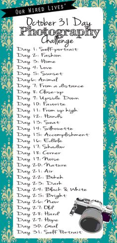2012 October Photo Challenge Announced.  Join this year's fun! I'm doing it. Are you?