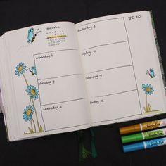 Agenda Planner, Weekly Planner, Bullet Journal Weekly Layout, Bullet Journals, Kalender August, Smash Book, Bujo, Journaling, Books