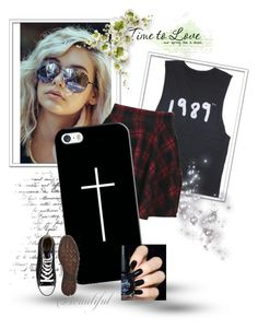 """:)"" by lauraceron777 on Polyvore featuring moda, Boohoo, Casetify y Converse"