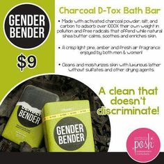 I am so in love with this gender bender bar!  It makes my skin so soft and clean! And its not feminine smelling so you can posh your man too!