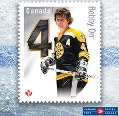 Bobby Orr gets a postal stamp in Canada!