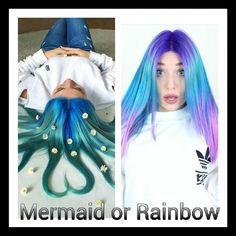 Was findet ihr schöner? #bibisbeautypalace #mermaid #blue #hair #bluehair by biiibis_fanpage