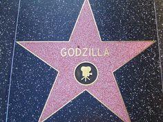 Hollywood Walk Of Fame ...  Godzilla has a star