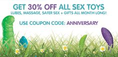 This is the last week of our MARCH MAYHEM SALE! Get 30% off all sex toys, BOGO DVDs, gift-with-purchase on all LELO toys, and more!