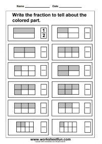 Fraction – Model – 3 Worksheets