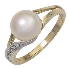 Dreambase Damen-Ring Perle teilrhodiniert 14 Karat (585) ... https://www.amazon.de/dp/B01540DERQ/?m=A37R2BYHN7XPNV