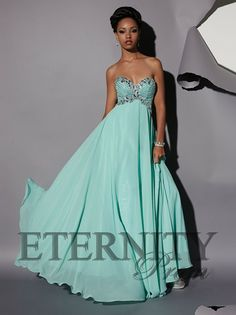 Fabulous turquoise prom dress from Eternity Prom