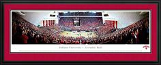 Indiana Hoosiers Framed Panoramic Poster Print - Assembly Hall - Red Out