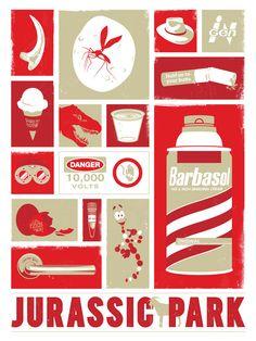 Jurassic Park, Dinosaur, Movie, Poster, Art Print, 18x24. $35.00, via Etsy.