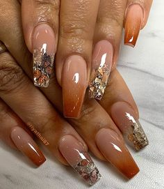 35 Prettiest Fall Nail Designs and Ideas to Try in 2021 – May the Ray Simple Fall Nails, Fall Gel Nails, Cute Nails For Fall, Fall Acrylic Nails, Perfect Nails, Gorgeous Nails, Stylish Nails, Trendy Nails, Fall Nail Art Designs