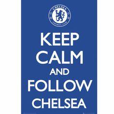 Chelsea keep calm - sport poster Chelsea Blue, Chelsea Fc, Soccer Gear, Soccer Shop, Soccer Stuff, Keep Calm Posters, Chelsea Handler, Go Blue